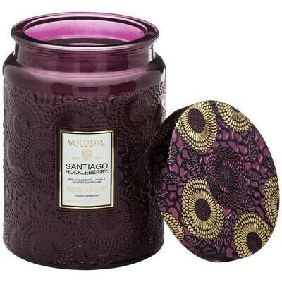 Santiago Huckleberry Voluspa Large Glass Jar