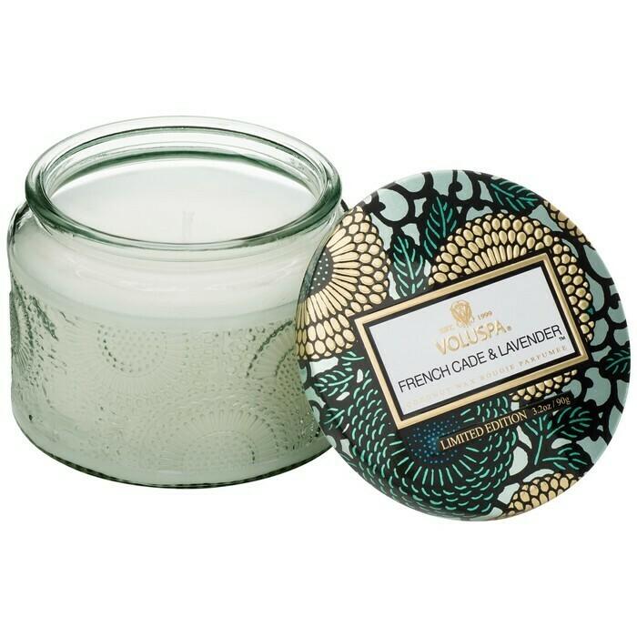French Cade Lavender Voluspa Small Glass Jar