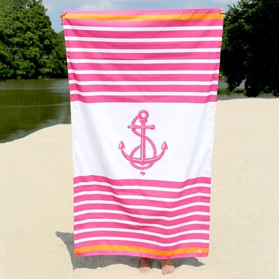 Microfiber Anchor Stripe Towel