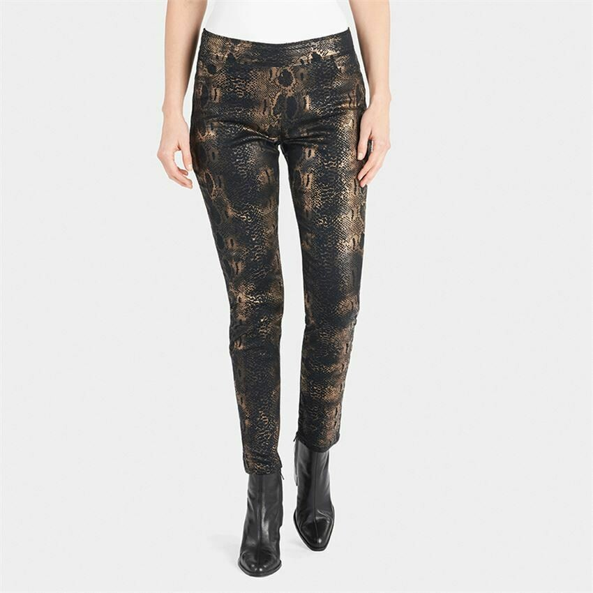 Black and Gold Printed Jeans
