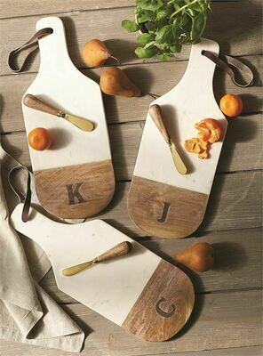 Marble & Wood Cutting Board Set