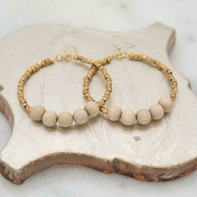 Sand Golden Row Earrings
