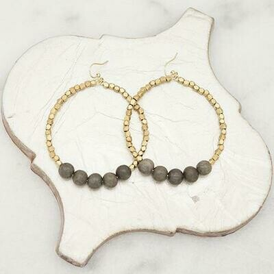 Grey Golden Row Earrings