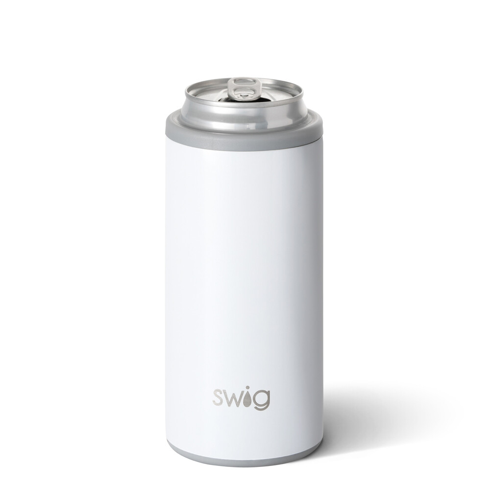 White 12oz Skinny Can Cooler