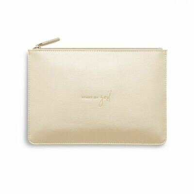 Katie Loxton Heart of Gold Perfect Pouch