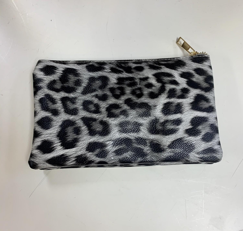 White Leopard Jackie Crossbody/Wristlet