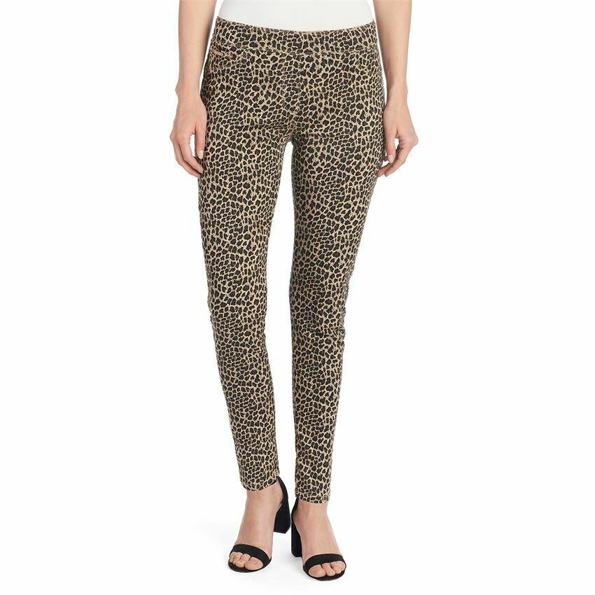 OMG Printed Pant-Tan Leopard