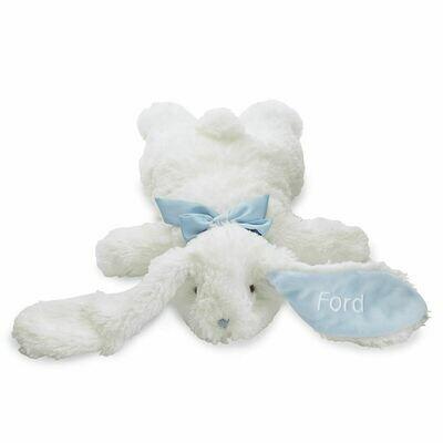 Flat Rabbit Plush Blue
