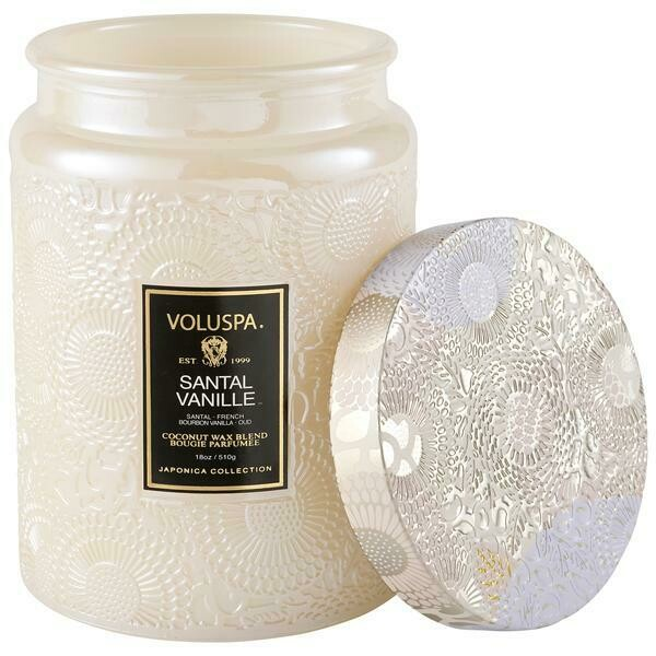 Santal Vanille Voluspa Large Glass Jar
