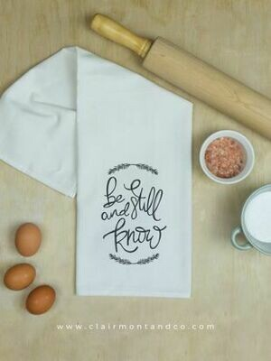 Be Still & Know Kitchen Towel