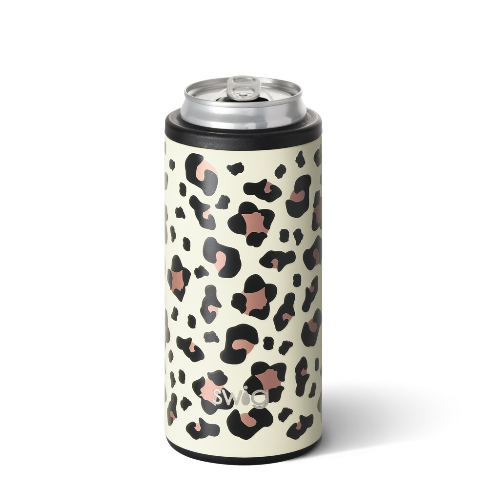 Luxy Leopard 12 oz Skinny Can Cooler