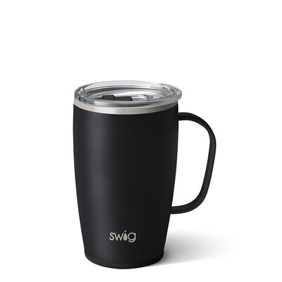 Matte Black 18 oz Tall, Skinny Mug
