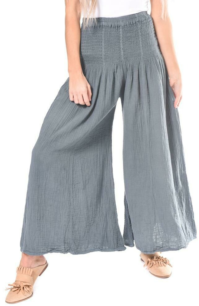 Smock Crinkle Cotton Pant