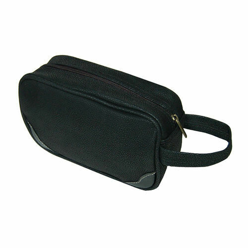Black Toiletries Case/Dopp Kit