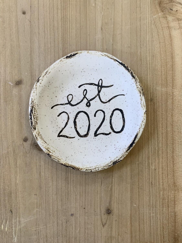 Est. 2020 Round Dish