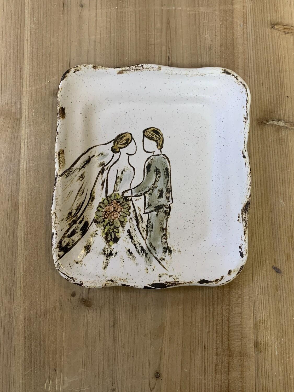 Big, Big Plans Wedding Plate
