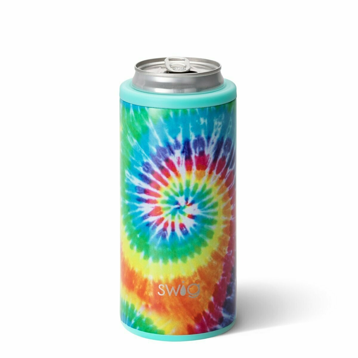 Swirled Peace Skinny Can Cooler (12oz)