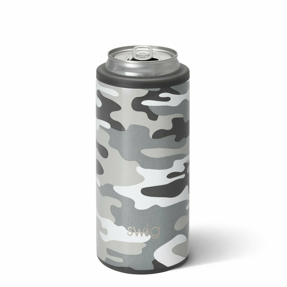 Camo Skinny Can Cooler 12 oz