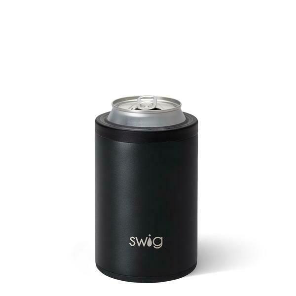 Matte Black Combo Can & Bottle Cooler 12 oz Cans & Bottles