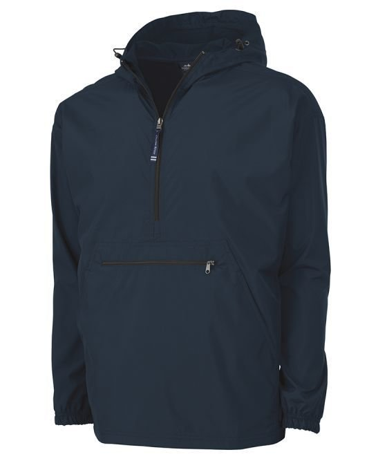 Navy Solid Pack-N-Go Pullover