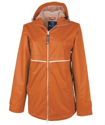Orange Women's New Englander Rain Jacket