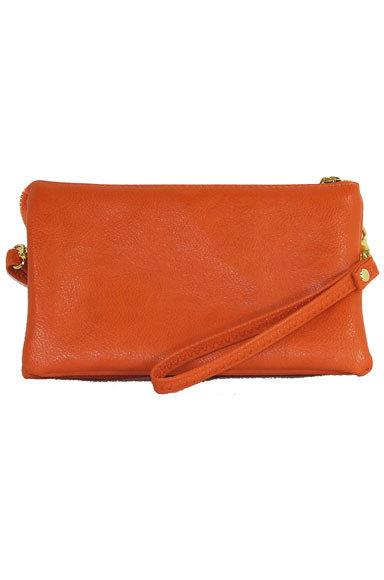 Jackie Crossbody/Wristlet Orange