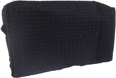 Black Small Waffle Weave Cosmetic Bag