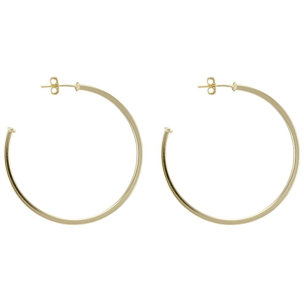 Shiny Gold Perfect Hoops