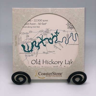 Old Hickory Lake Coaster Stone
