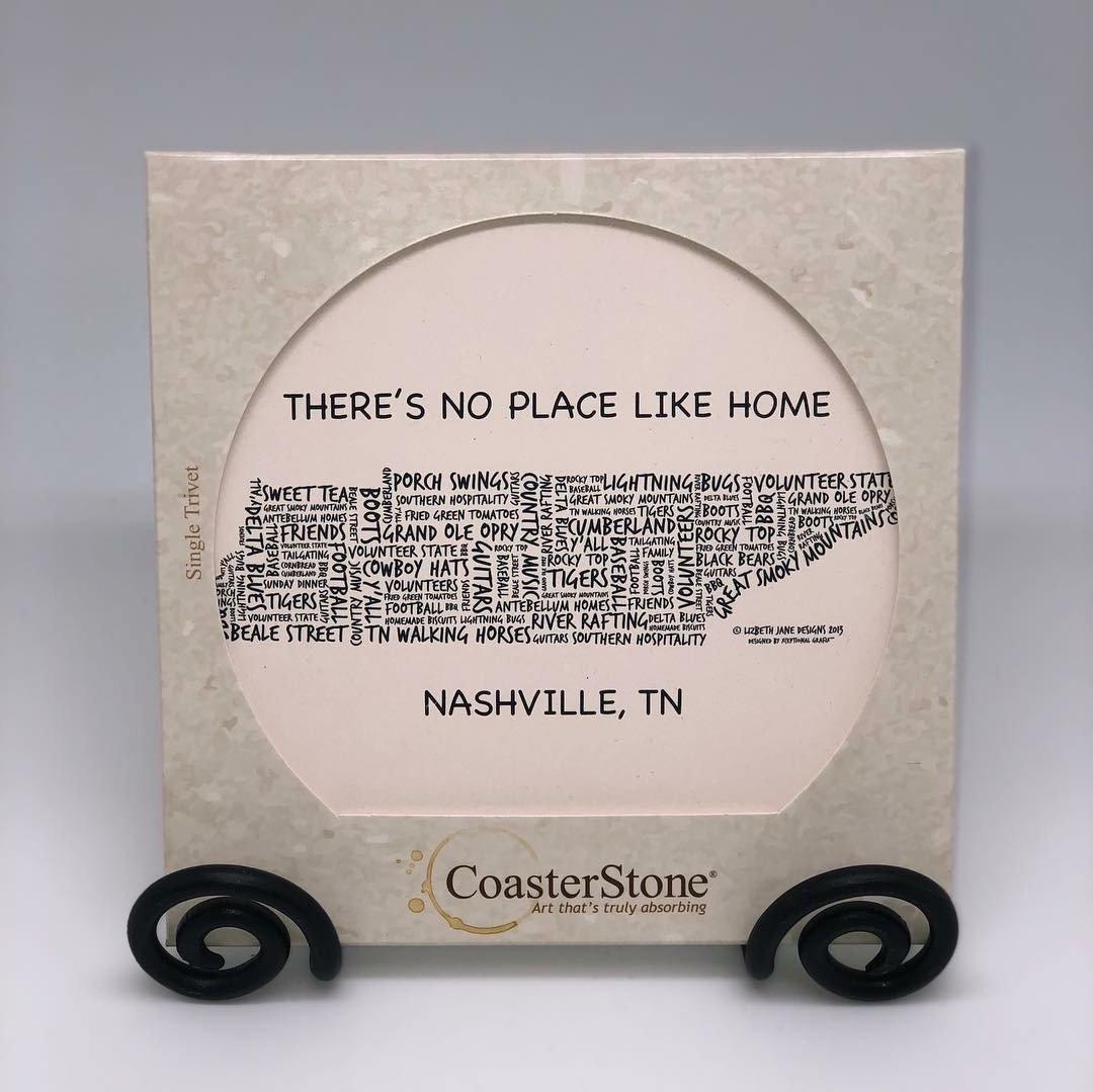 Nashville, TN Coaster Stone