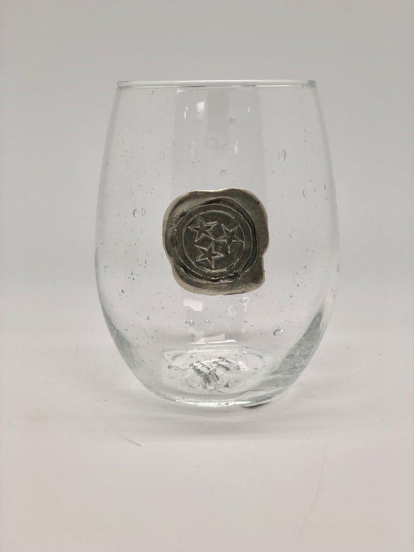 TN Tri Star Stemless Wine Glass