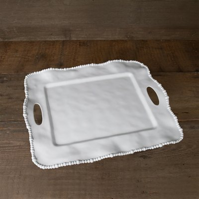 Beaded Tray with Handles