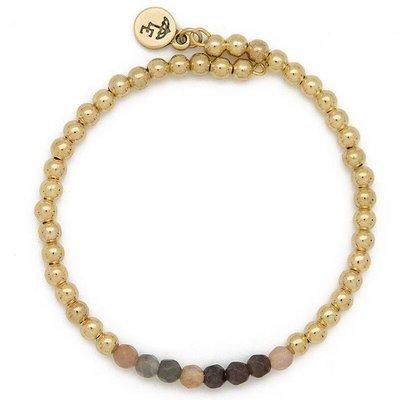 """FOCUS ON THE PRESENT"" Gemstone Bracelet"