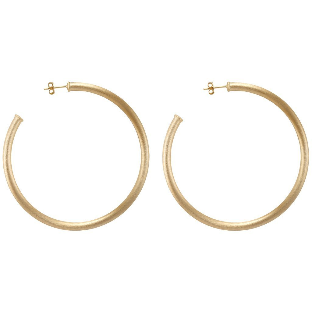 Brushed Gold Everybody's Favorite Hoops