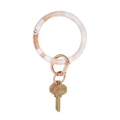 Rose Gold Marble Silicone Key Ring