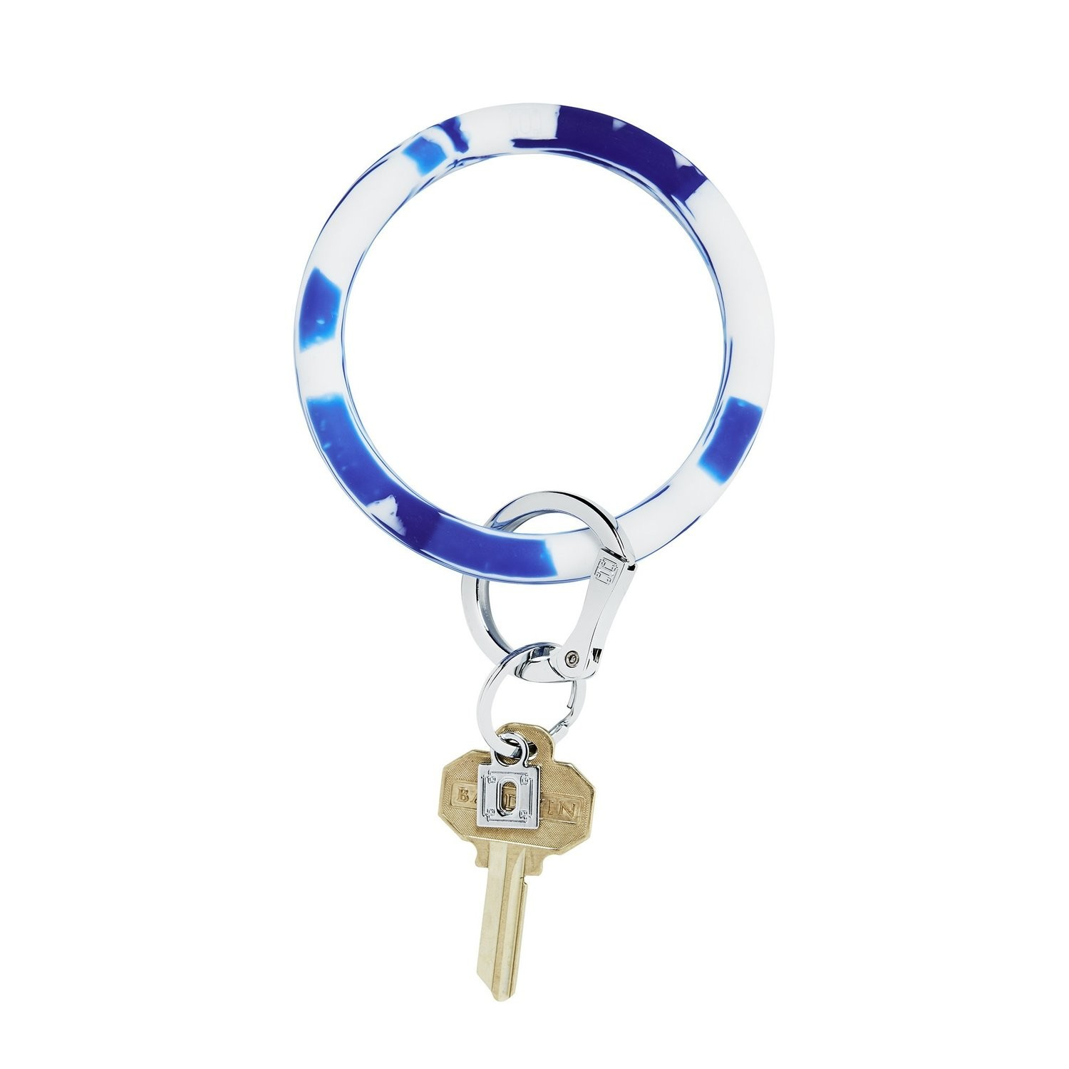 Blue Me Away Marble Silicone Key Ring