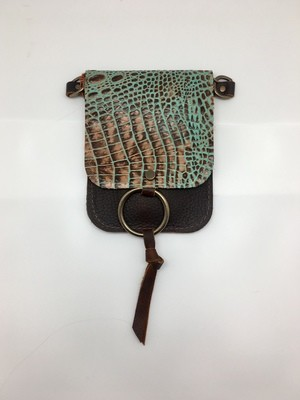 Belt Bag Turquoise Crocodile