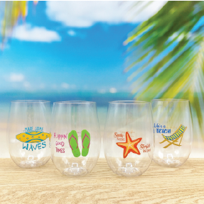 Beach Wine-Oh Goblets