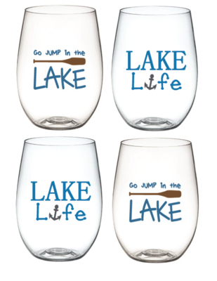 Lake Wine-Oh Goblets
