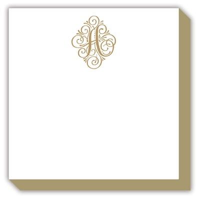 Elegant Gold Initial Notepad