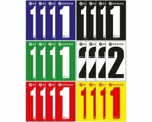 Senzo Adhesive Numbers Pack of 4