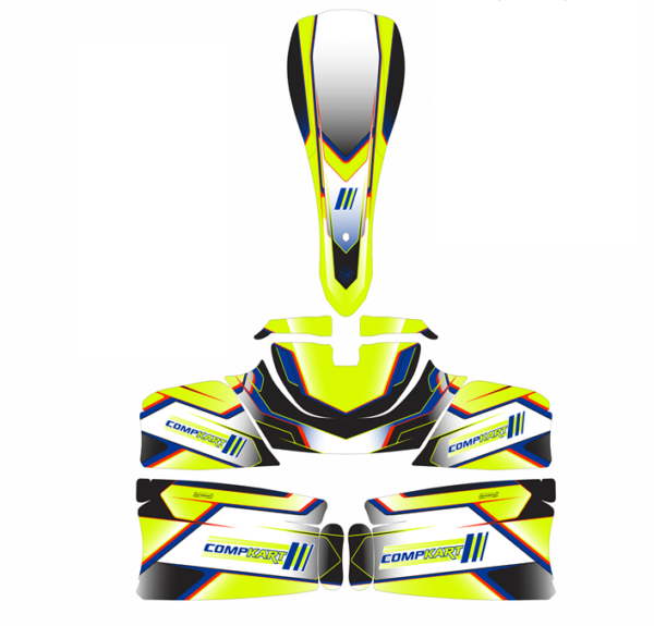 COMPKART COVERT 3.0 2020 STICKER KIT CONSISTING OF NOSE CONE, NASSAU PANEL & 2 X SIDE PODS