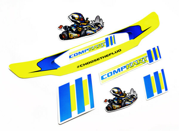 COMPKART STICKER PACK CONSIST OF 5 STICKERS AND VISOR STRIP