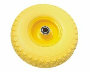 Yellow Steel Rim Pu Type Wheel- 300-4 80mm Long
