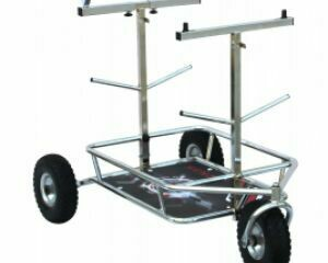Senzo Chrome 3 Wheel Kart Trolley