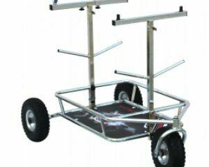 Senzo Chrome 3 Wheel Kart Trolley