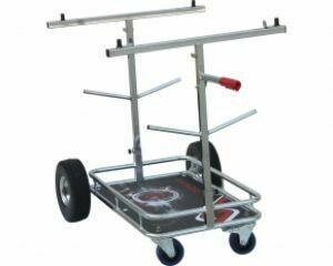 Senzo Chrome 4 Wheel Kart Trolley