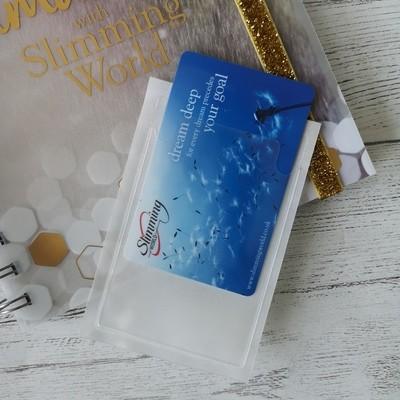 Stick-on card holder