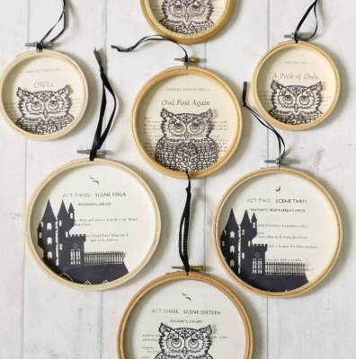 Harry Potter original book pictures made from paper cut silhouettes