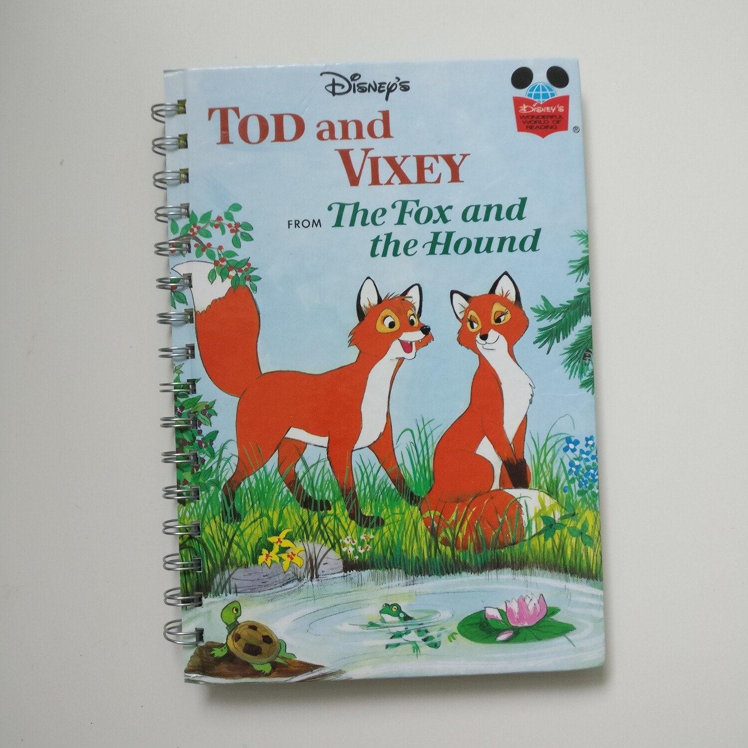 Tod and Vixey / Fox and the Hound Notebook - READY TO SHIP :diary and lined